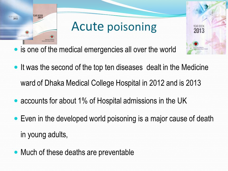 Ingredients of Poisoning varies from country to country and even from one region to another within the same country.