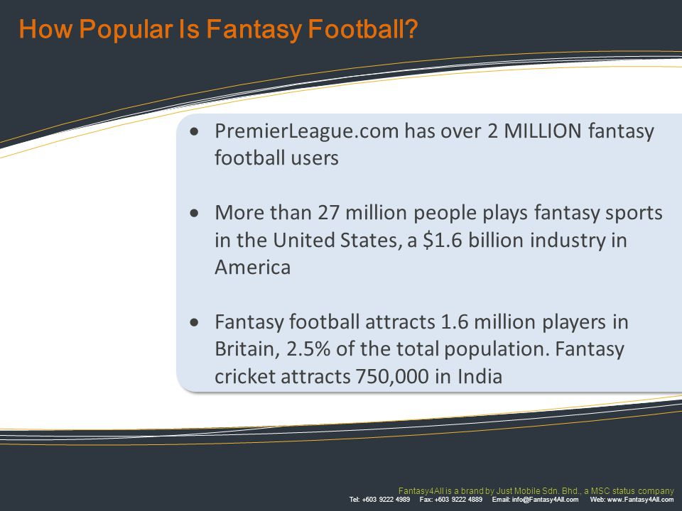 FACTS & FIGURES Between October 2003 and May 2004, 7 million Americans visited on average 200 fantasy sports Web pages per person per month.