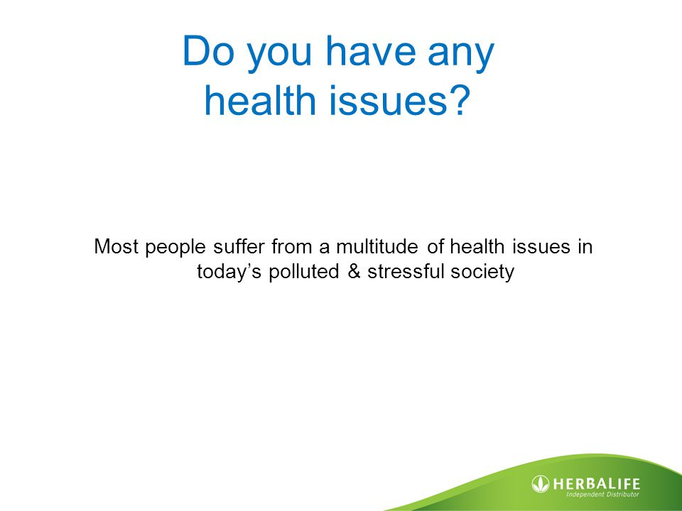 Do you have any health issues? Most people suffer from a multitude of health issues in today's polluted & stressful society