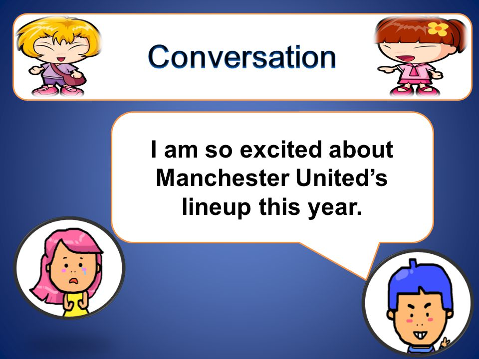 I am so excited about Manchester United's lineup this year.