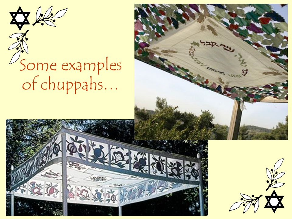 Some examples of chuppahs…