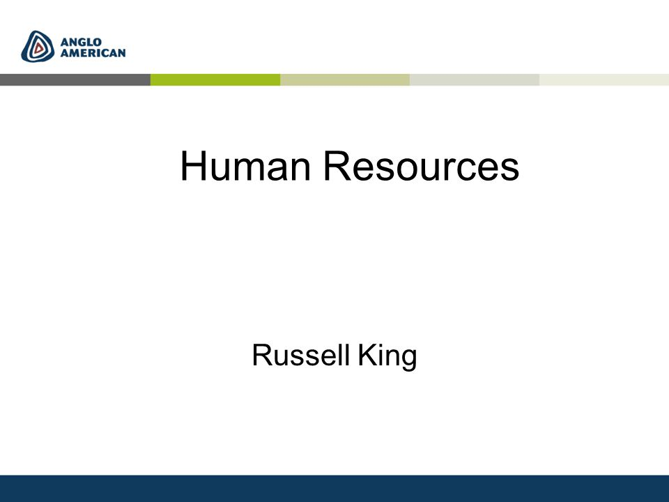 Human Resources Russell King