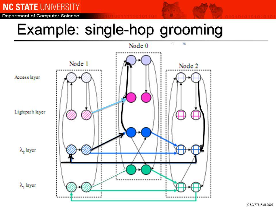 CSC 778 Fall 2007 Example: single-hop grooming