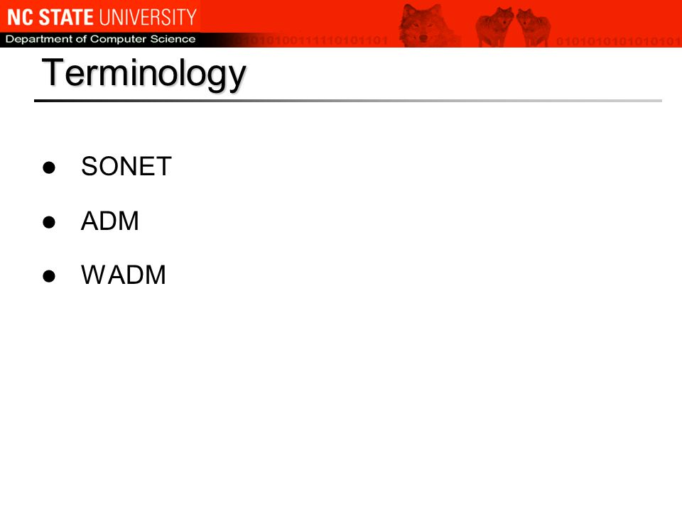 Terminology SONET ADM WADM