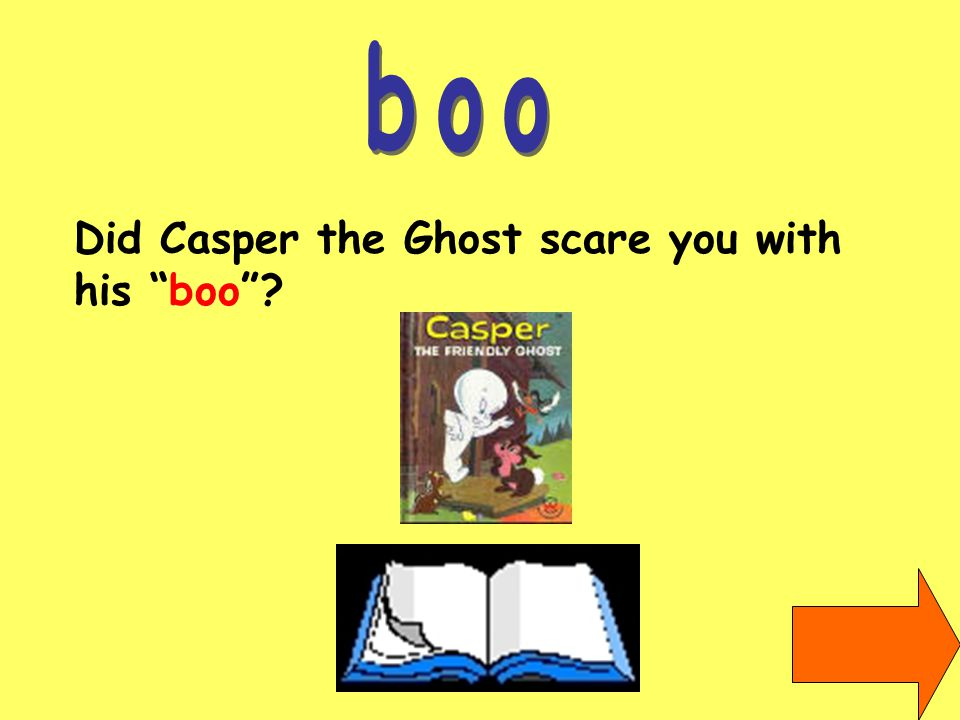 Did Casper the Ghost scare you with his boo