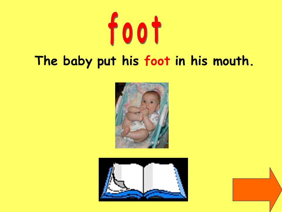 The baby put his foot in his mouth.
