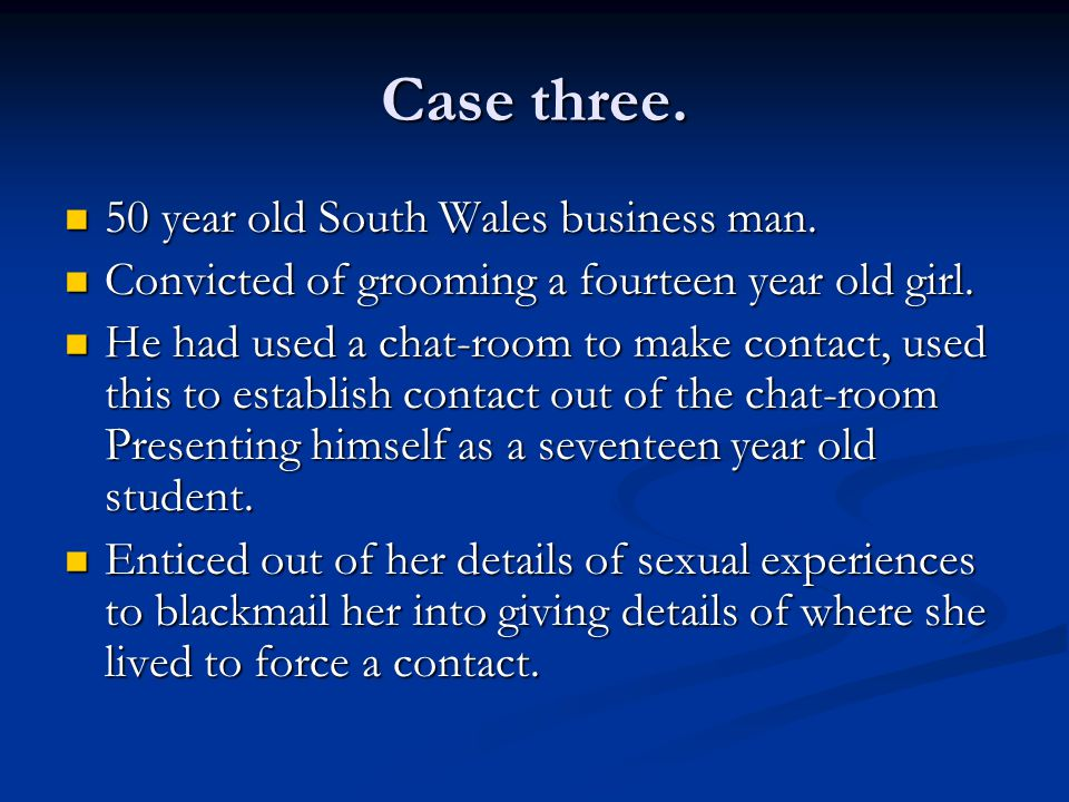 Case three. 50 year old South Wales business man.