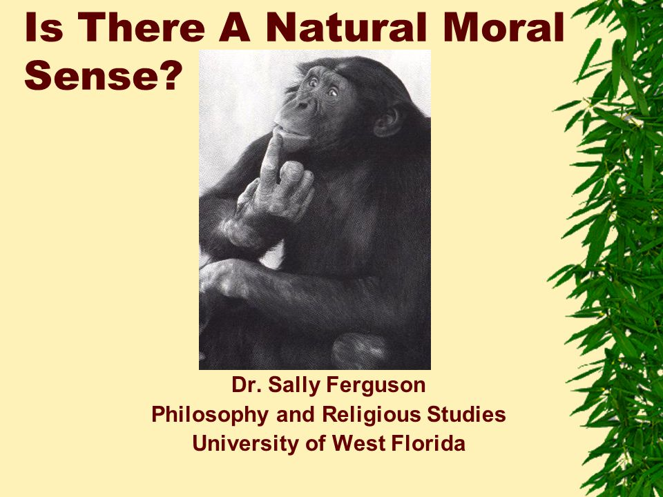 Is There A Natural Moral Sense. Dr.