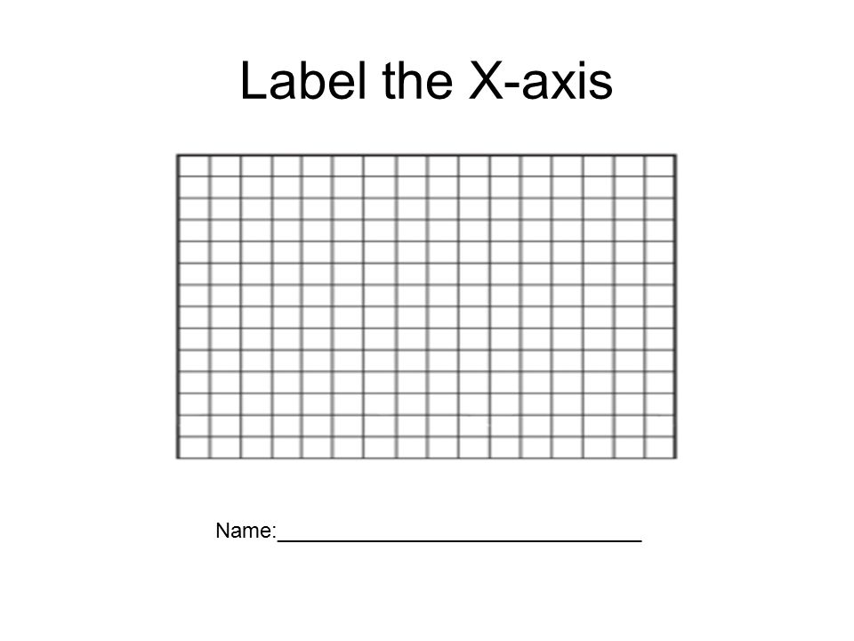 Label the Y- axis Name: