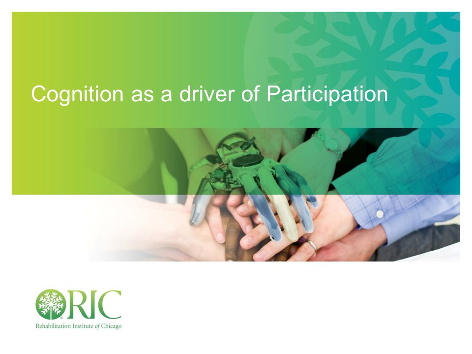 Cognition as a driver of Participation