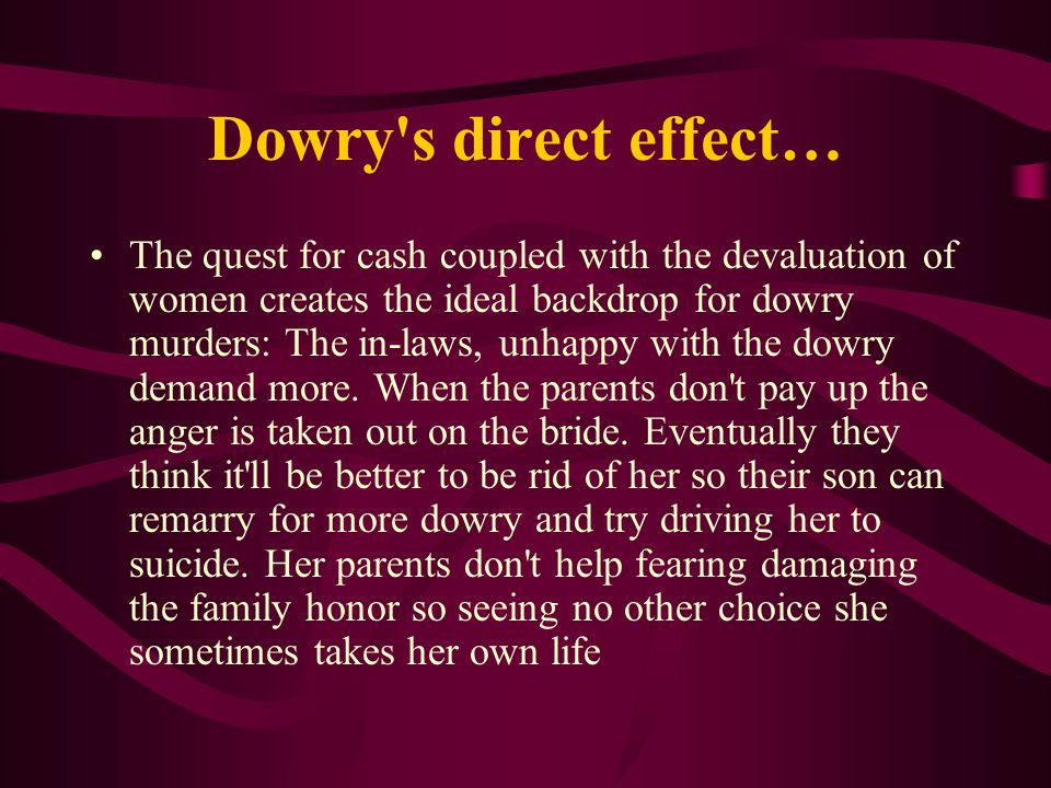 dowry deaths in india a possible