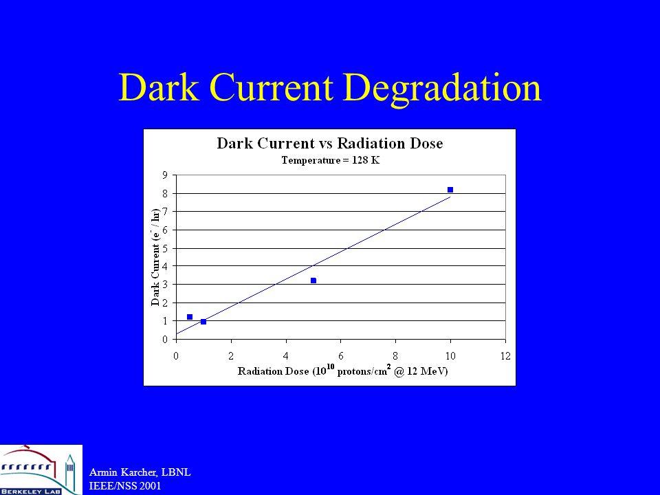Armin Karcher, LBNL IEEE/NSS 2001 Dark Current Degradation