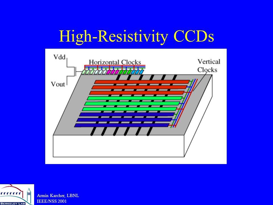 Armin Karcher, LBNL IEEE/NSS 2001 High-Resistivity CCDs