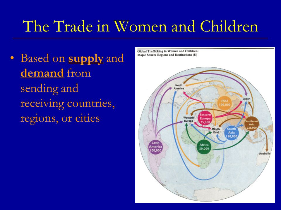 The Trade in Women and Children Based on supply and demand from sending and receiving countries, regions, or cities