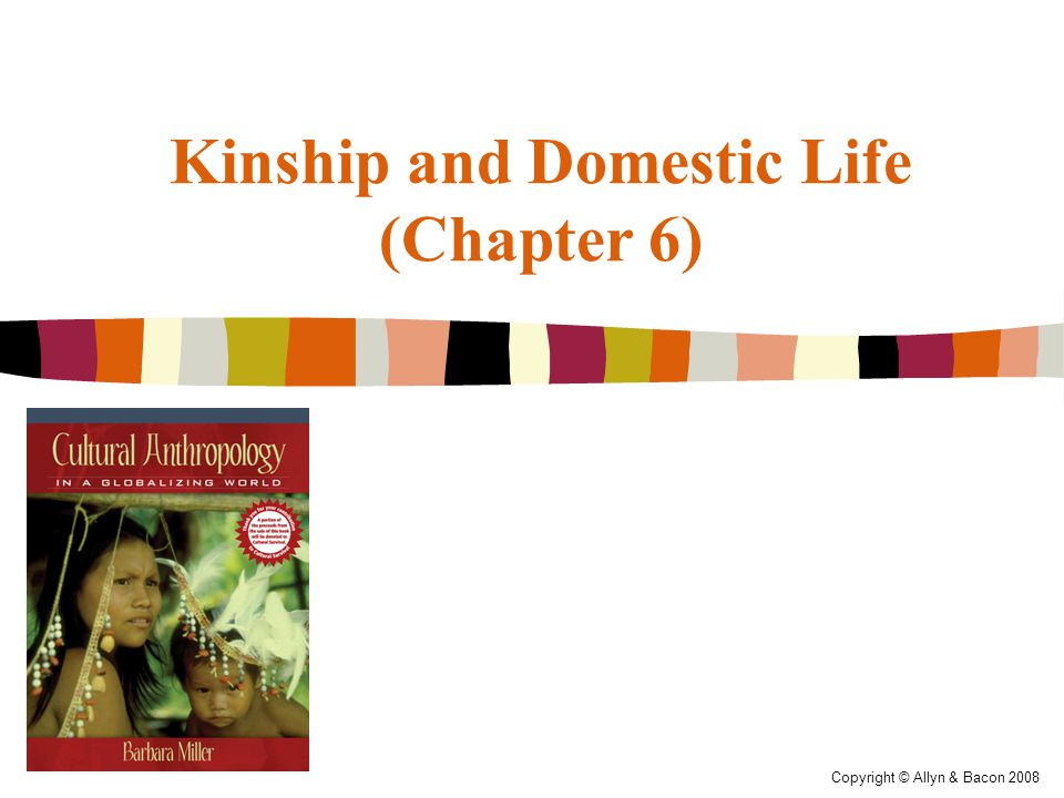 Copyright © Allyn & Bacon 2008 Kinship and Domestic Life (Chapter 6)