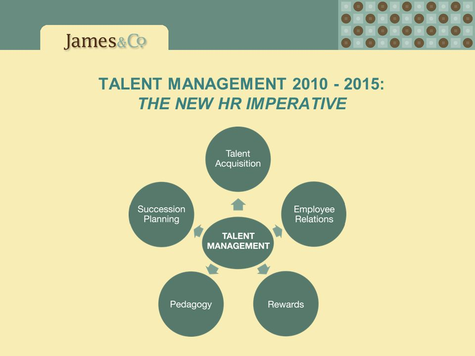 TALENT MANAGEMENT 2010 - 2015: THE NEW HR IMPERATIVE