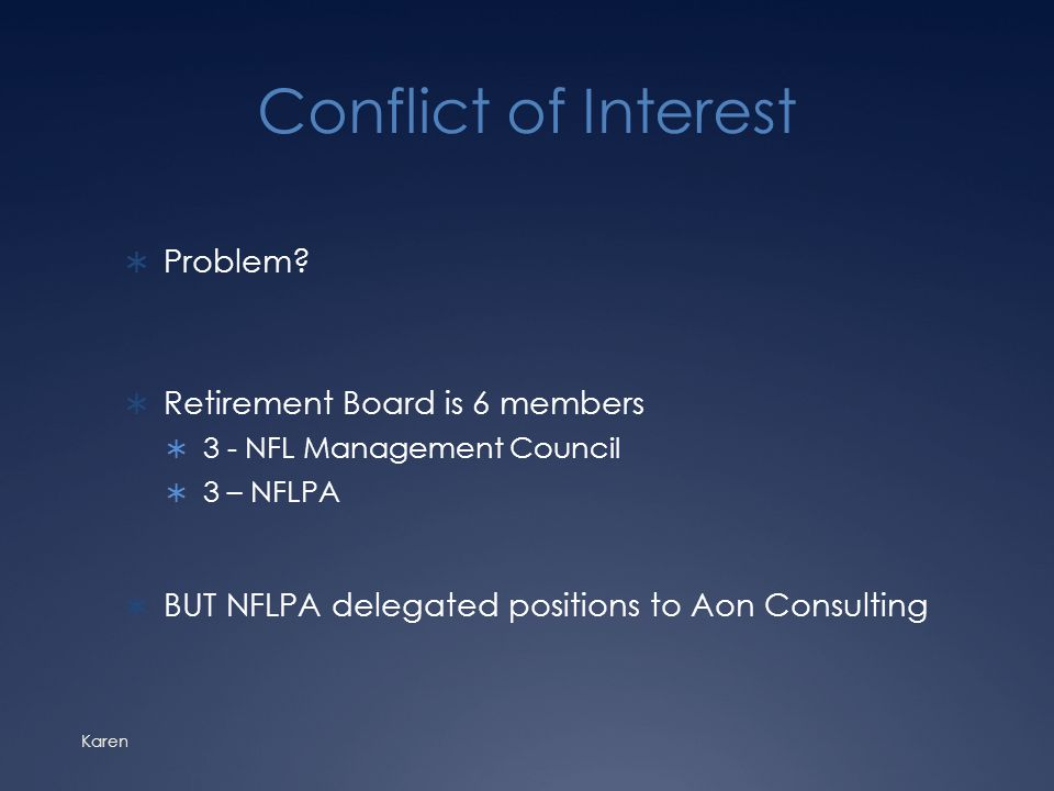 Conflict of Interest  Problem.