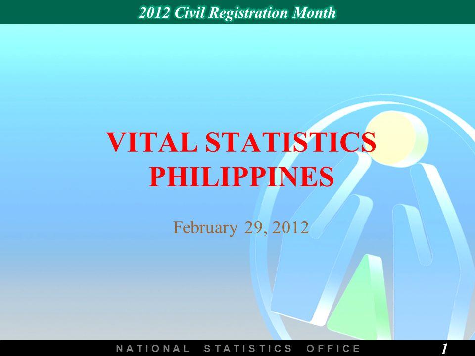 N A T I O N A L S T A T I S T I C S O F F I C E 1 VITAL STATISTICS PHILIPPINES February 29, 2012