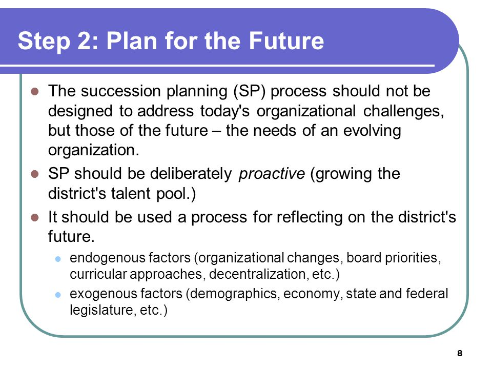 To facilitate a smooth transition, districts should structure plans that outline the process of orienting new leaders.