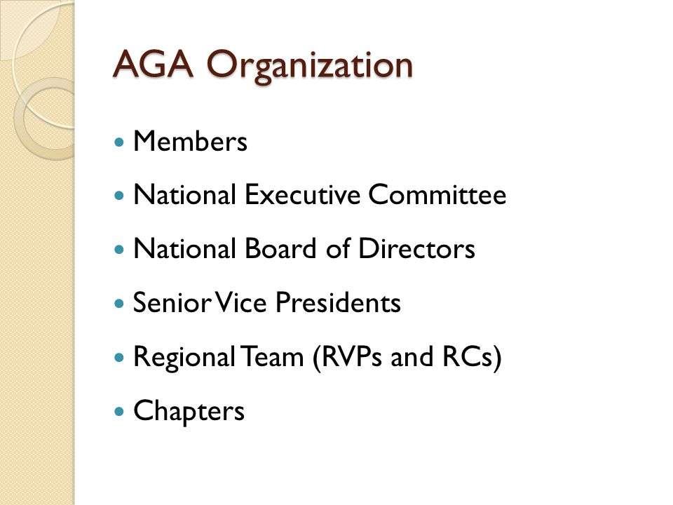 Chapter Leader Expectations Support AGA Initiatives – Membership and Retention –  What is your chapter doing.