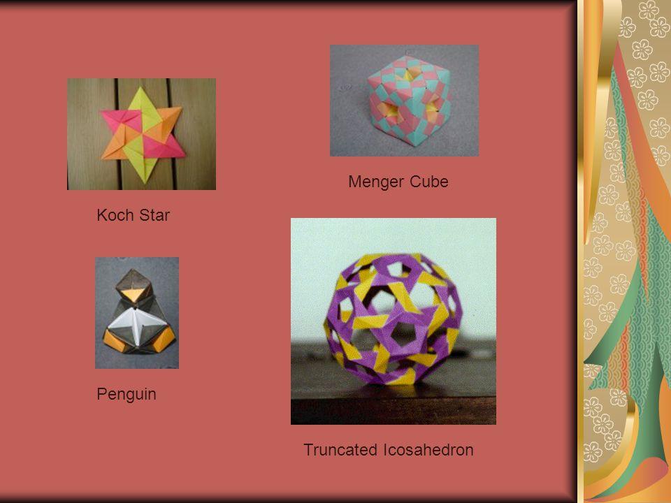 Koch Star Menger Cube Penguin Truncated Icosahedron