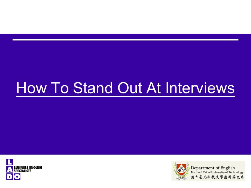 How To Stand Out At Interviews