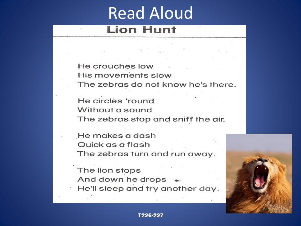 Read Aloud T226-227