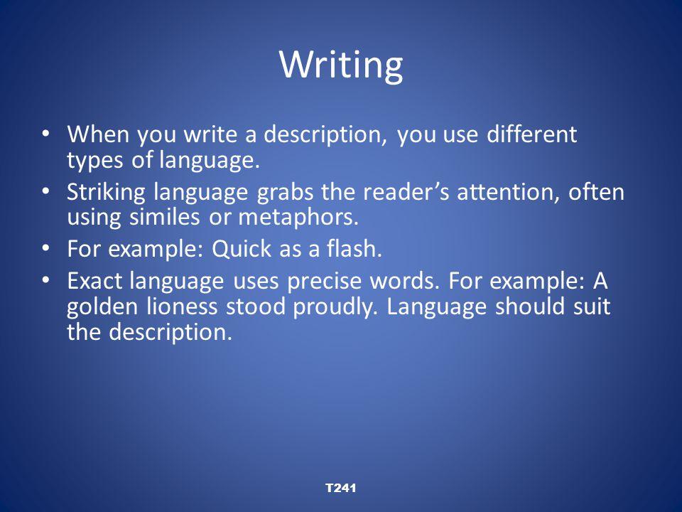 Writing T241