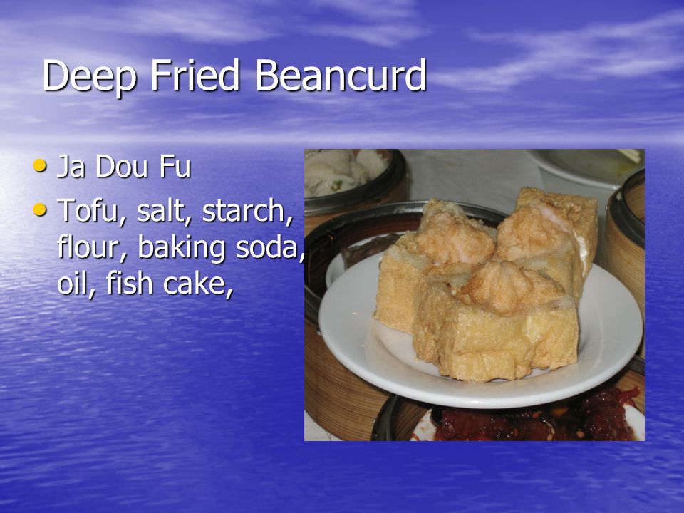 Deep Fried Beancurd Ja Dou Fu Ja Dou Fu Tofu, salt, starch, flour, baking soda, oil, fish cake, Tofu, salt, starch, flour, baking soda, oil, fish cake,