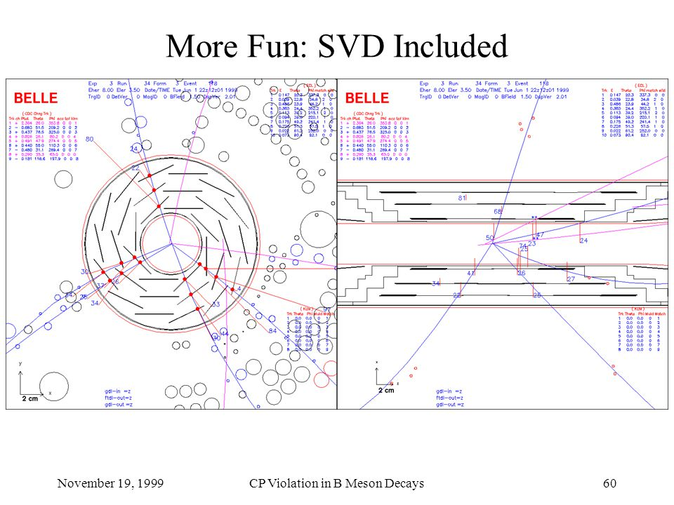 November 19, 1999CP Violation in B Meson Decays60 More Fun: SVD Included