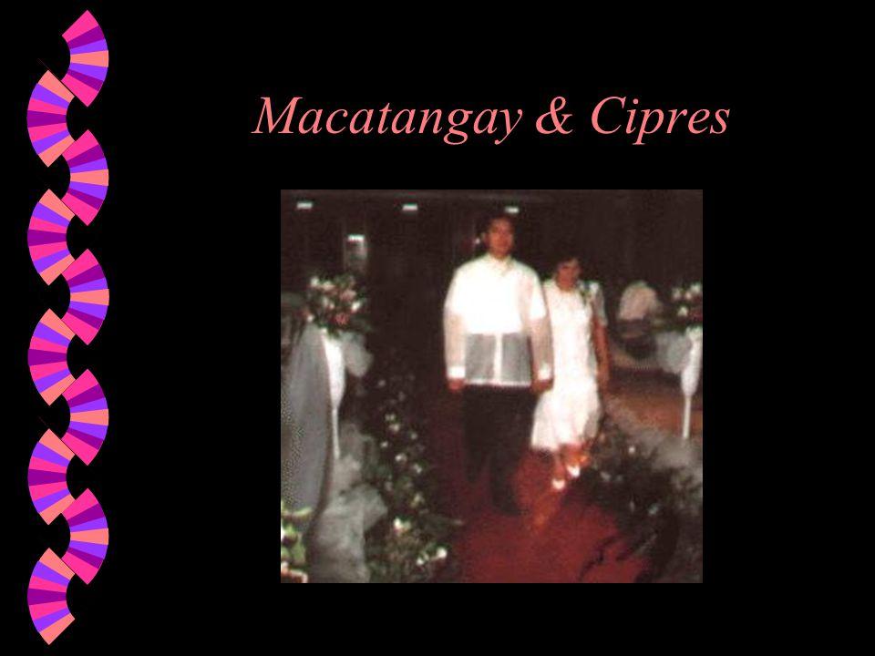 Macatangay & Cipres