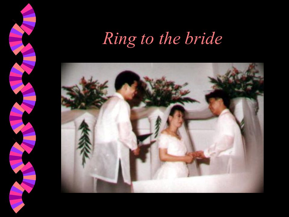 Ring to the bride