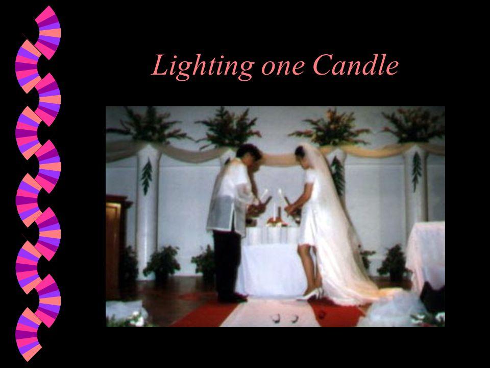 Lighting one Candle