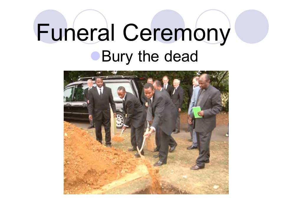 Funeral Ceremony Throw the soil