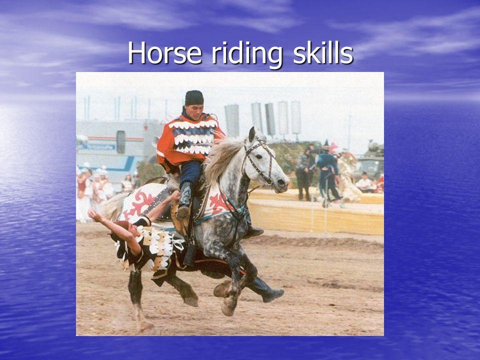 Horse riding skills
