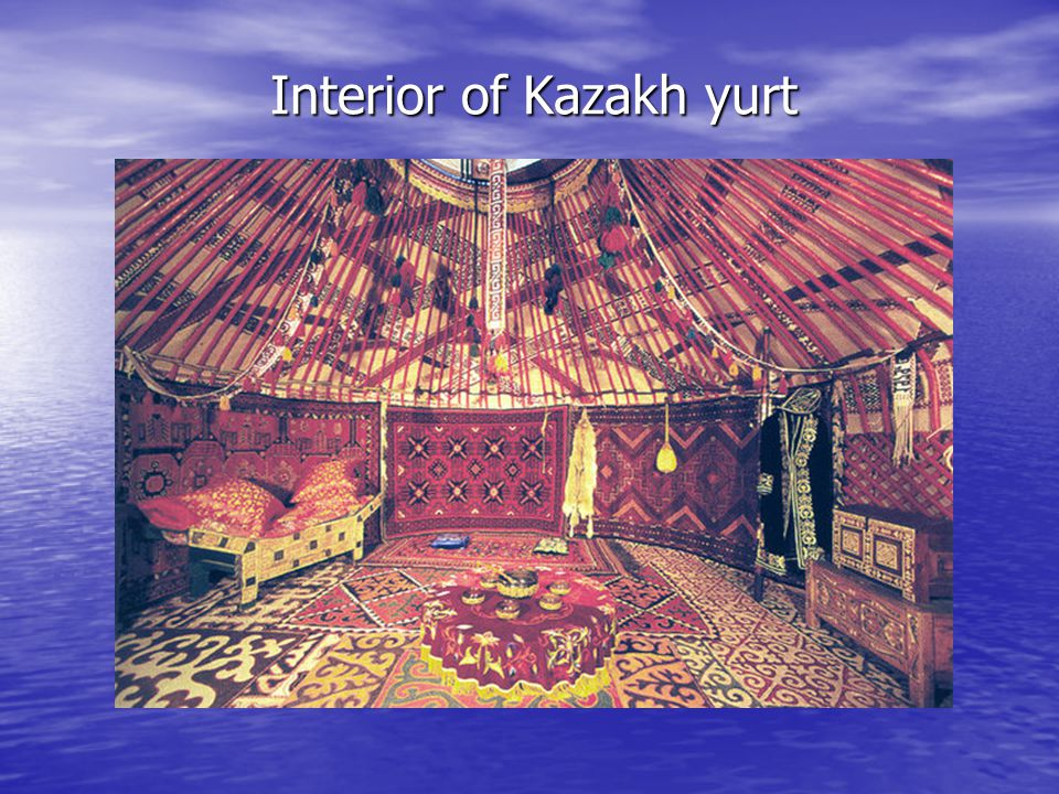 Interior of Kazakh yurt