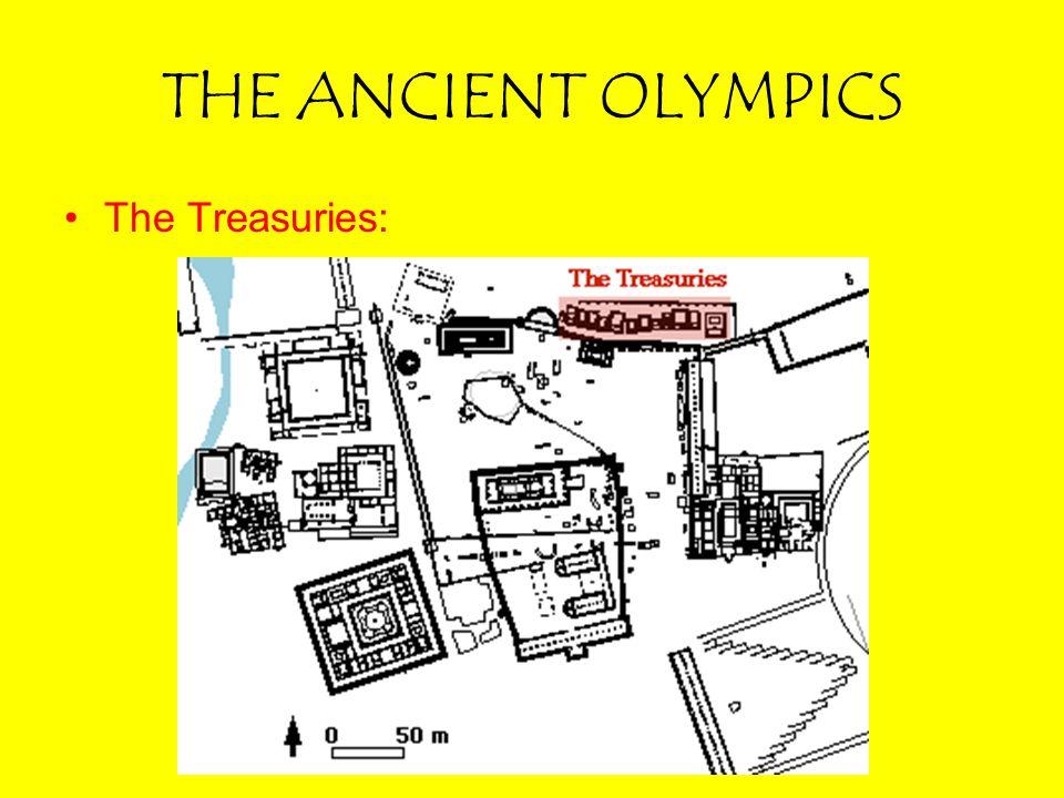THE ANCIENT OLYMPICS The Treasuries: