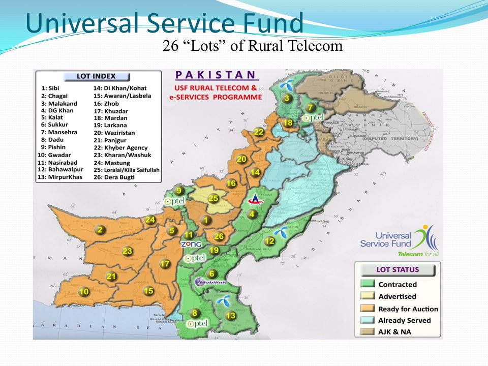 Universal Service Fund 26 Lots of Rural Telecom
