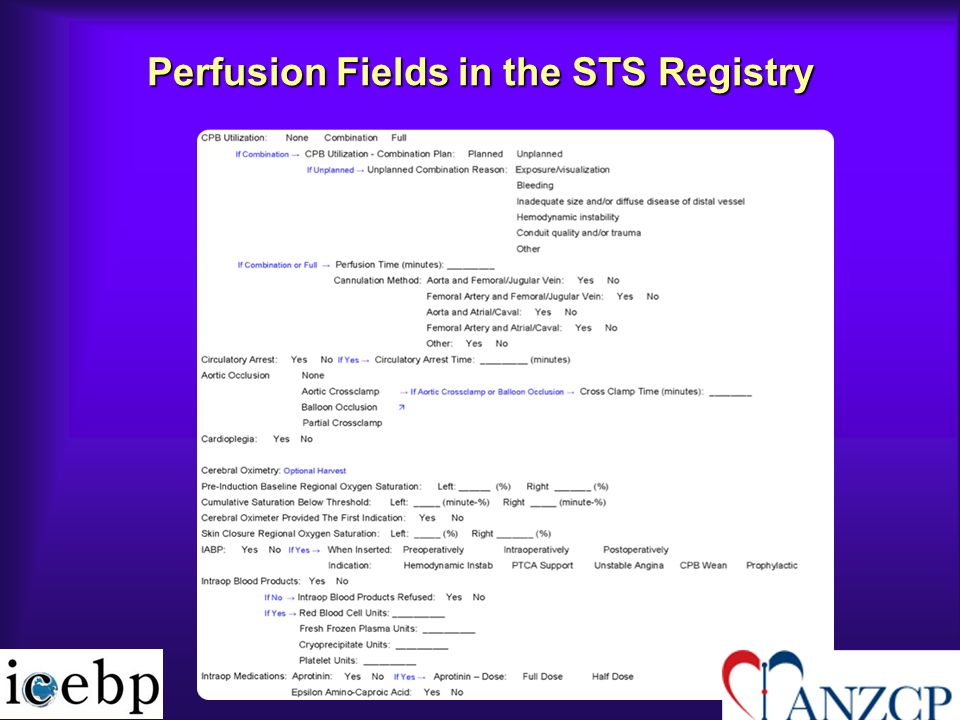 Perfusion Fields in the STS Registry