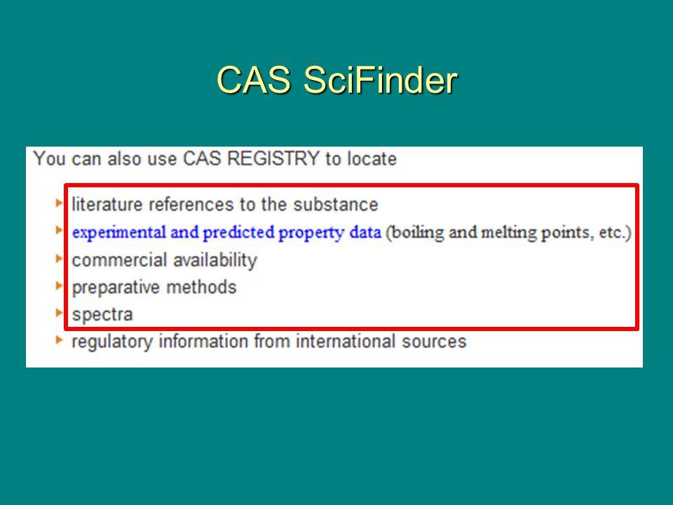 CAS SciFinder