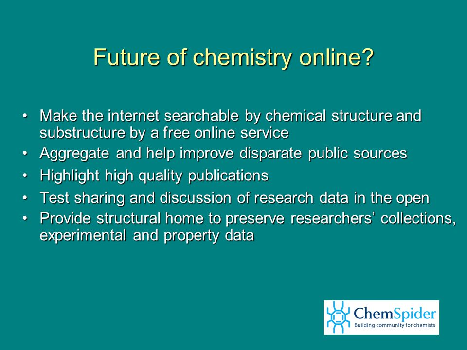 Future of chemistry online.