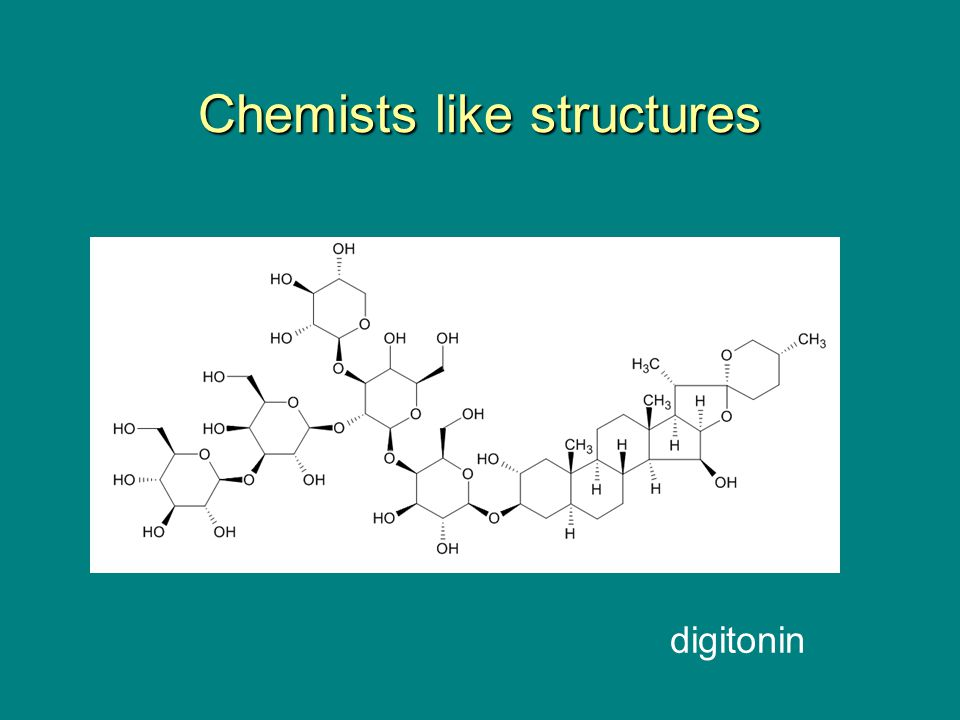 Chemists like structures digitonin