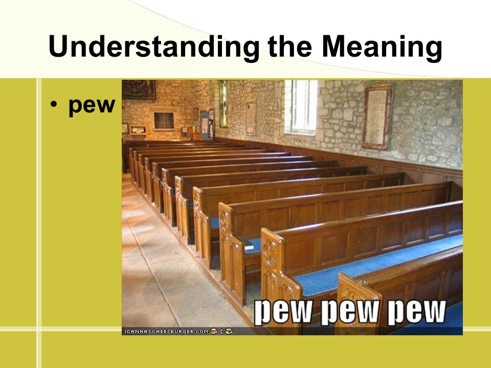 Understanding the Meaning pew