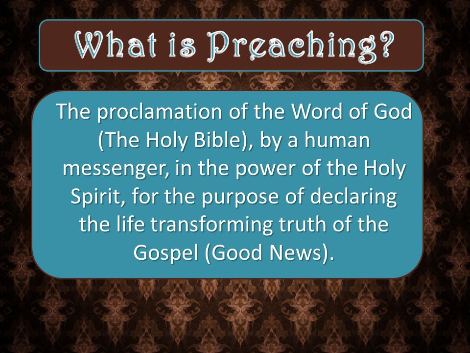 The sermon idea [proposition] is the statement of a biblical concept in such a way that it accurately reflects the Bible and meaningfully relates to the congregation.