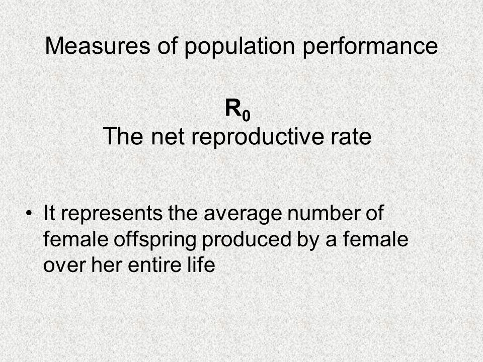 The annual population growth rate Defined by the equation: N t+1 = t N t