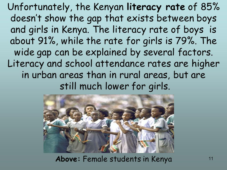 12 Teachers in Kenya still have to work to get many rural families to see the importance of education for girls.