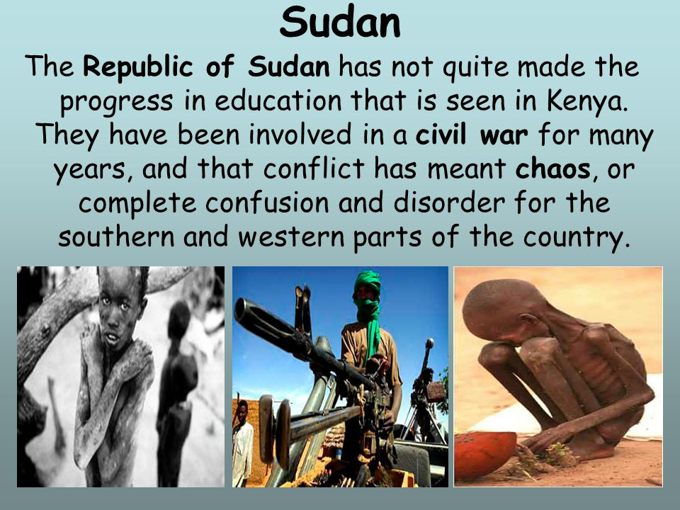14 Sudan has a national literacy rate of about 61%, but with a wide gap between boys and girls.
