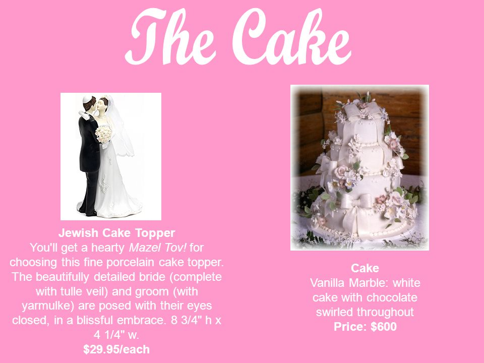 Jewish Cake Topper You ll get a hearty Mazel Tov. for choosing this fine porcelain cake topper.