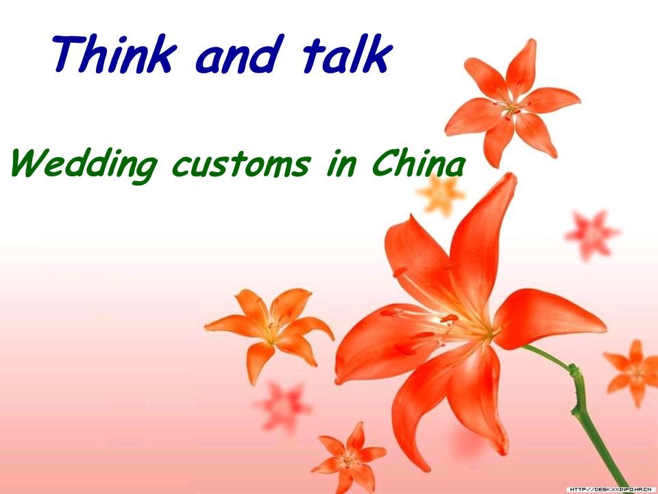 Think and talk Wedding customs in China