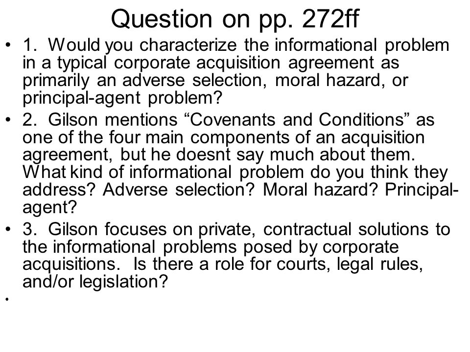 Question on pp. 272ff 1.